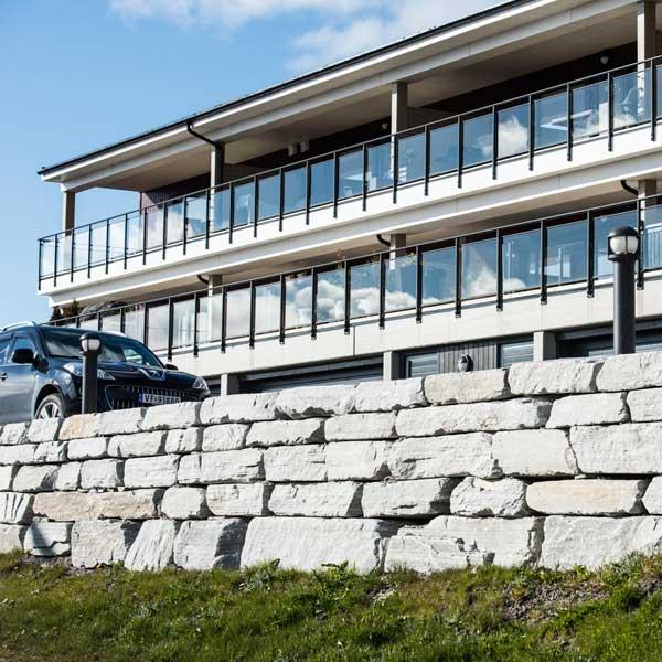 Steinmur fasade Skifer fra Sætergår