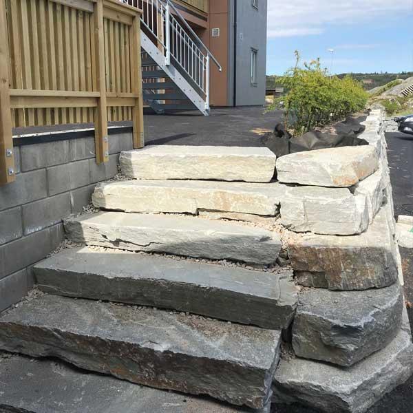 Steintrapp fra Sætergård